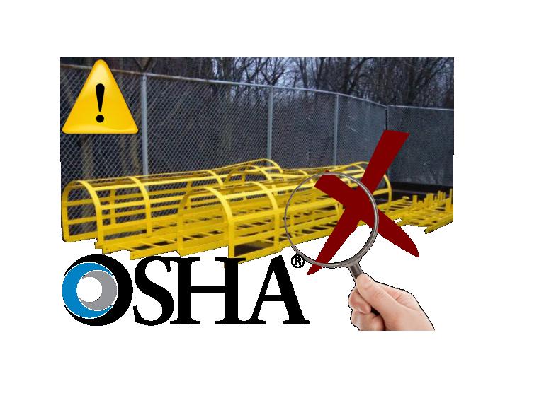 OSHA, Retira la jaula protectora de las escaleras fijas